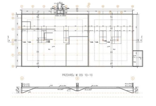 Projekt hali magazynowo-biurowej - rys. 01-03