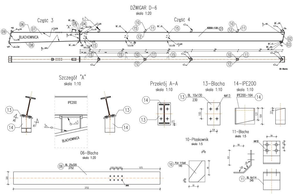 Projekt hali ujeżdżalni koni - rys. 02-03