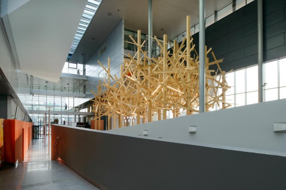Projekt konstrukcyjny atrium banku - fot. 03-03