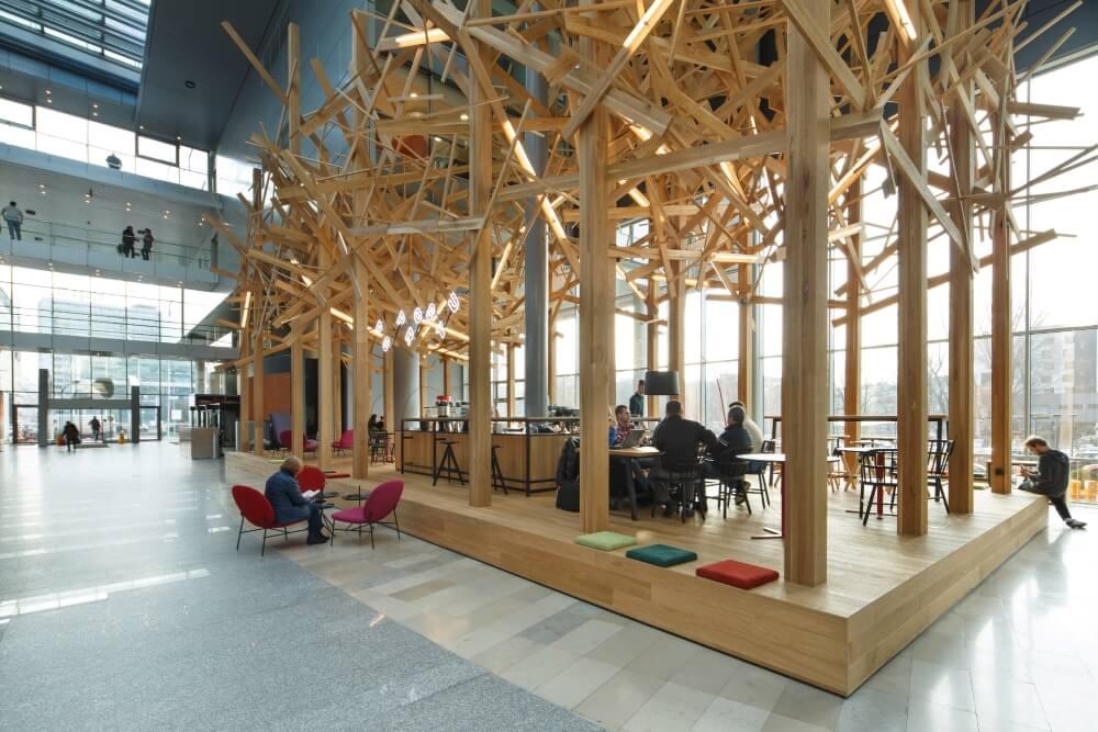 Projekt konstrukcyjny atrium banku - fot. 05-03