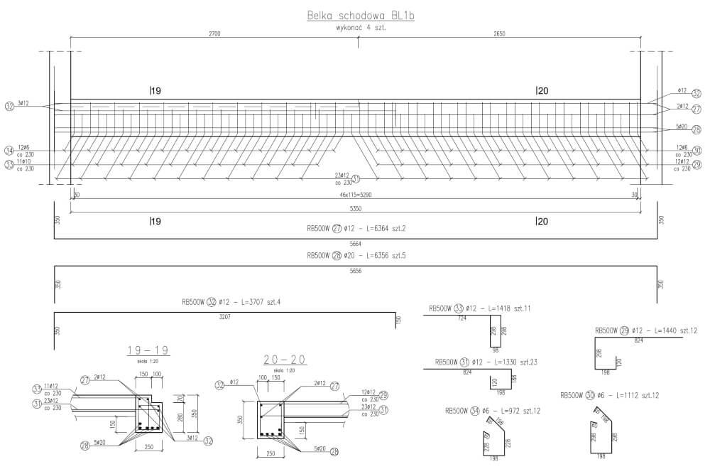 Projekt konstrukcyjny budynku wielorodzinnego - rys. 04-03