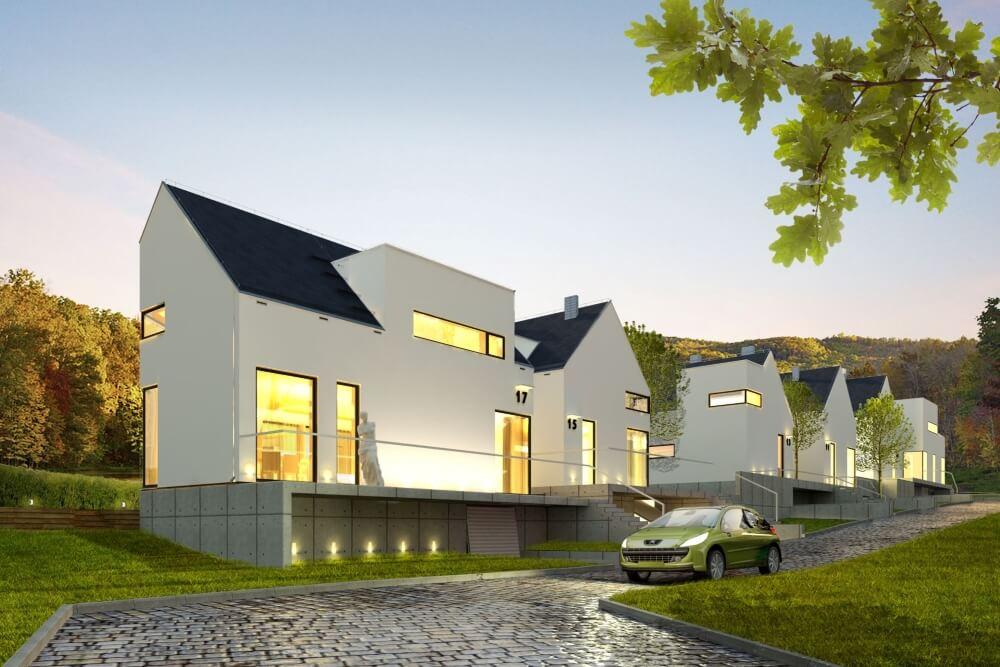 Projekt konstrukcyjny domów szeregowych - wiz. 05-03