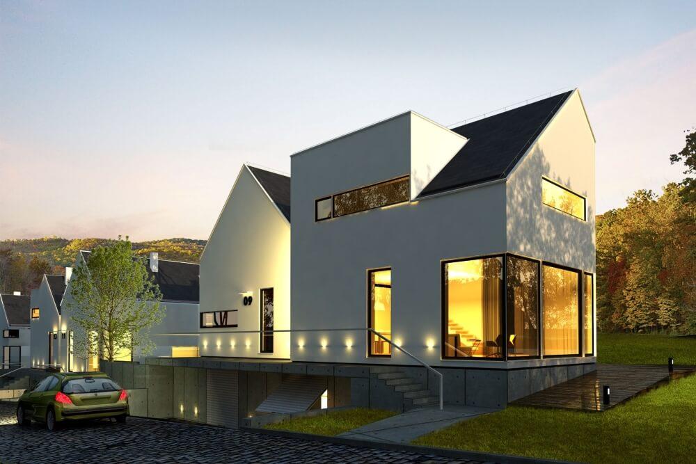 Projekt konstrukcyjny domów szeregowych - wiz. 06-03