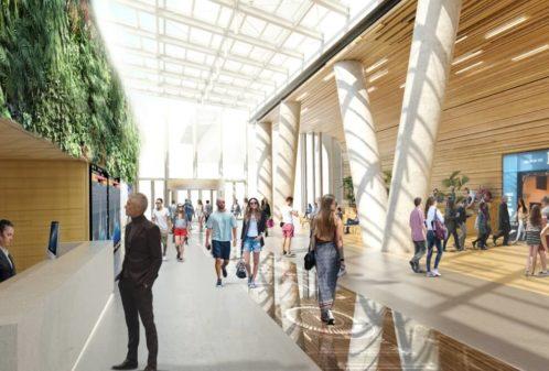 Projekt konstrukcyjny elementów holu biurowca - wiz. 02-03