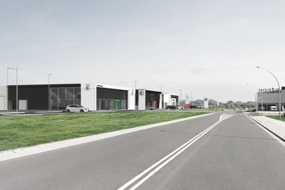 Projekt konstrukcyjny kompleksu obsługi samochodów - wiz. 19-03