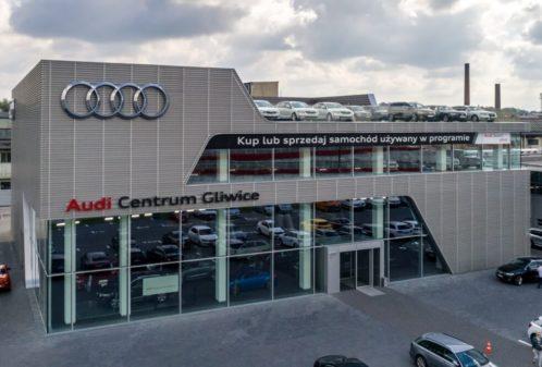 Projekt konstrukcyjny salonu samochodowego AUDI - fot. 01-03