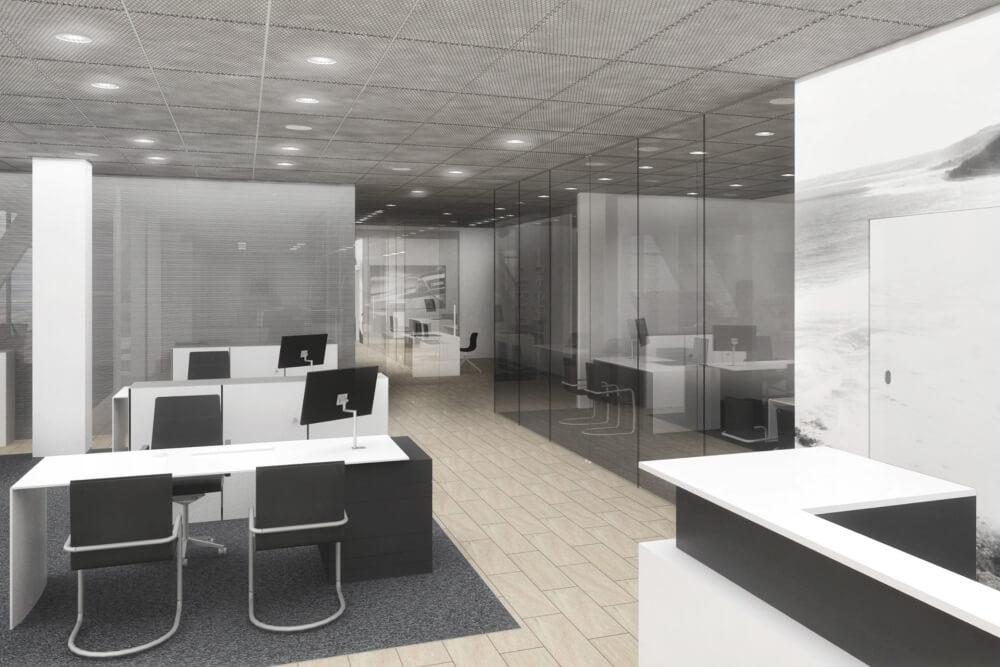 Projekt konstrukcyjny salonu samochodowego AUDI - wiz. 06-03