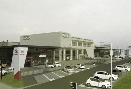 Projekt konstrukcyjny salonu samochodowego AUDI - fot. 07-03