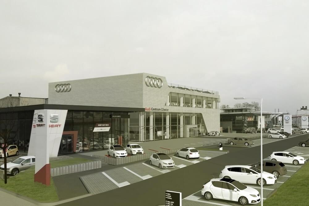 Projekt konstrukcyjny salonu samochodowego AUDI - fot.07-03