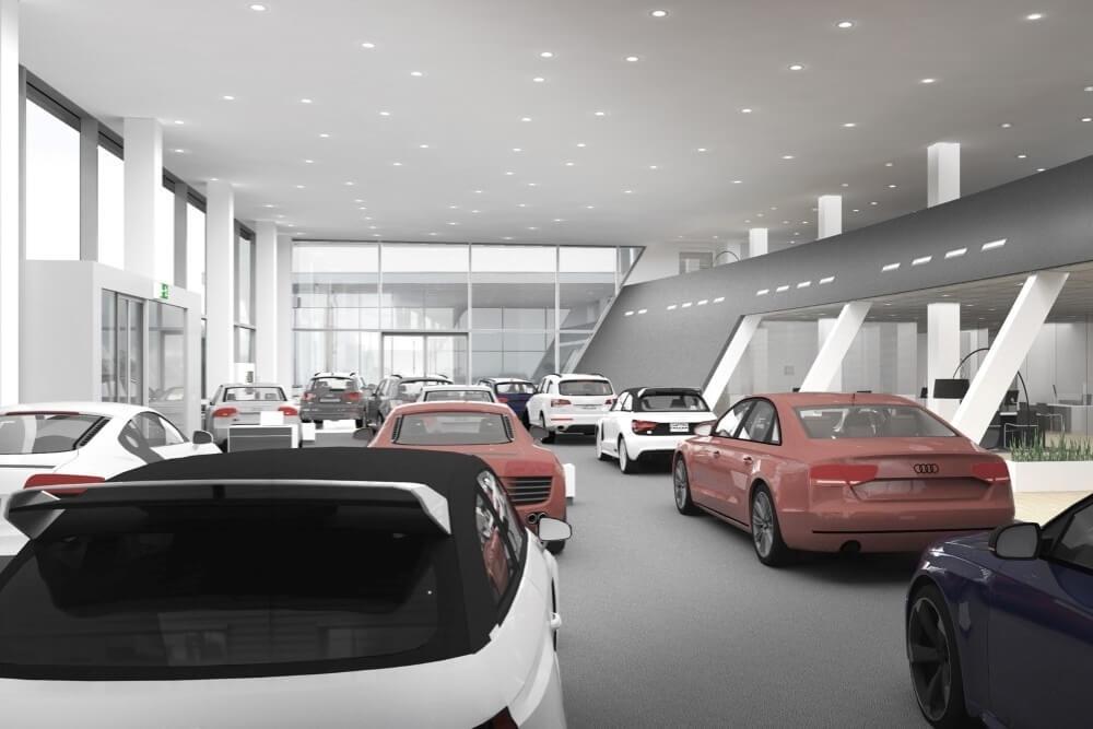 Projekt konstrukcyjny salonu samochodowego AUDI - fot. 09-03
