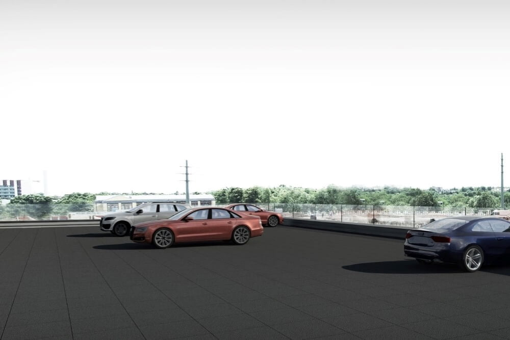 Projekt konstrukcyjny salonu samochodowego AUDI - wiz. 14-03