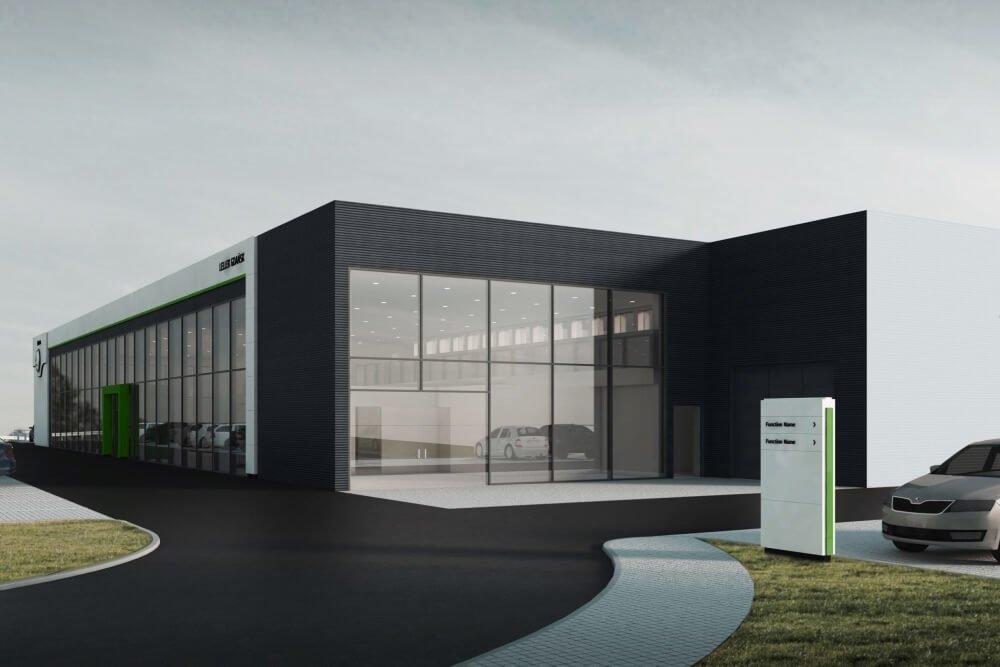 Projekt konstrukcyjny salonu samochodowego ŠKODA - wiz. 03-03