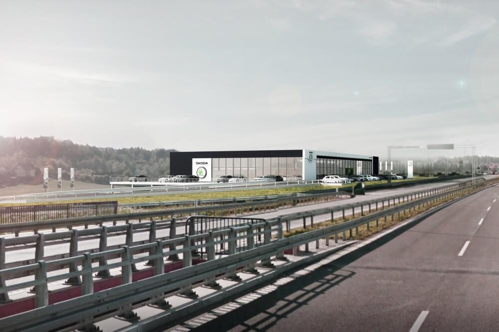 Projekt konstrukcyjny salonu samochodowego ŠKODA - wiz. 04-03