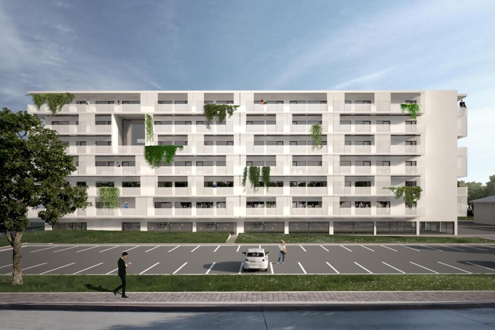 Projekt konstrukcyjny zespołu mieszkaniowego - wiz. 02-03