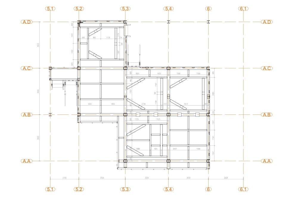 Projekt podestu stalowego zakładu chemicznego - rys. 03-03