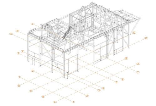 Projekt podkonstrukcji suszarki glutenu - rys. 01-03