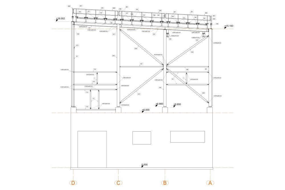 Projekt podkonstrukcji suszarki glutenu - rys. 04-03