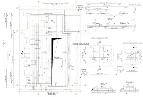 Projekt przebudowy konstrukcji elektrociepłowni - rys. 01-03