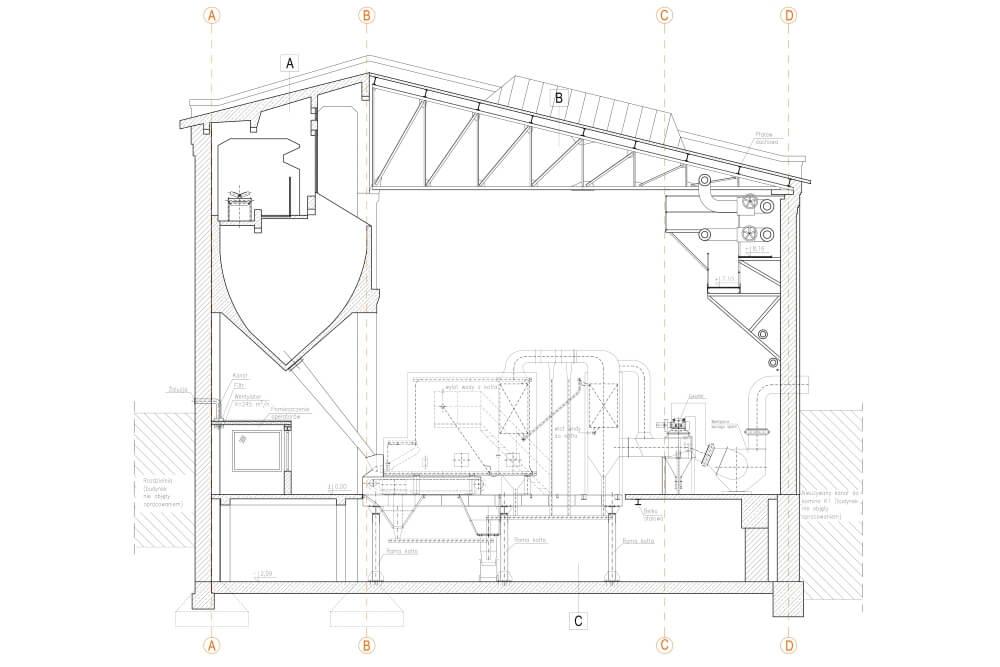 Projekt przebudowy konstrukcji elektrociepłowni - rys. 02-03