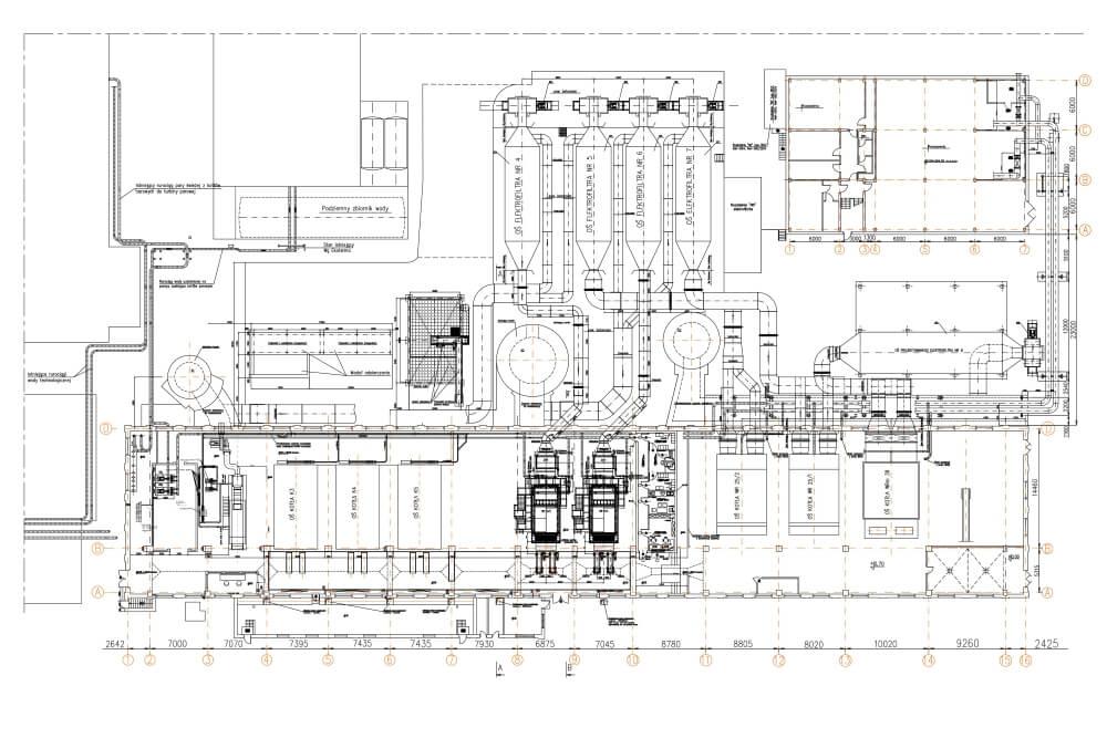 Projekt przebudowy konstrukcji elektrociepłowni - rys. 04-03