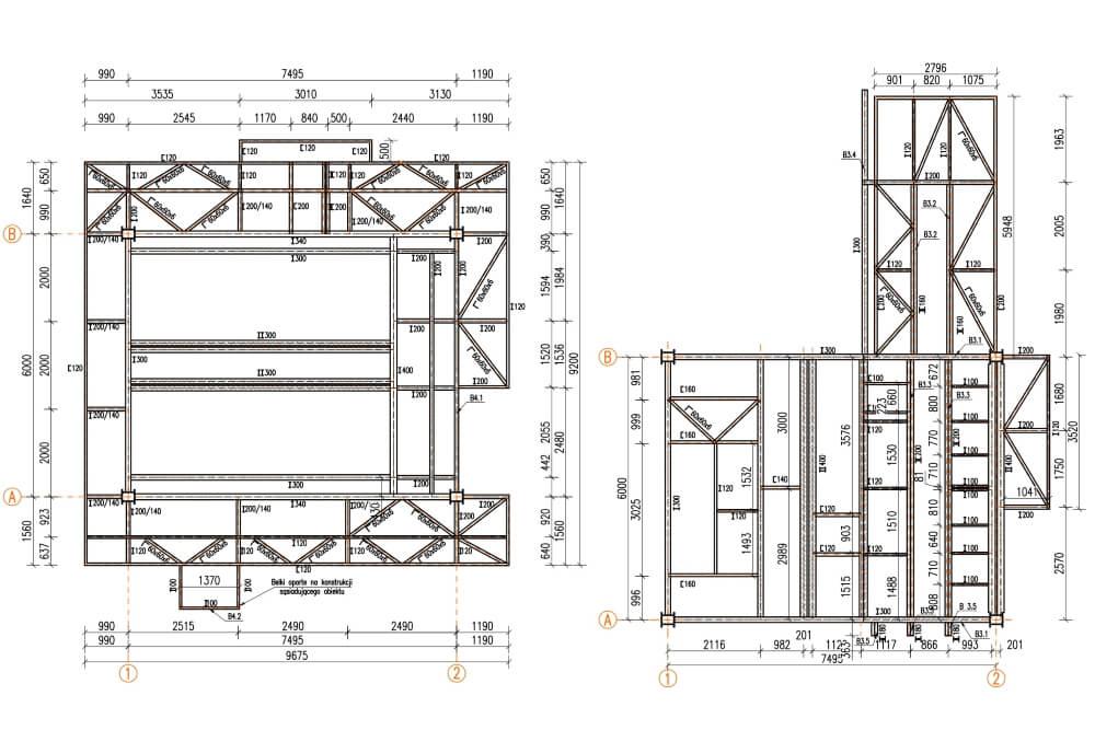 Projekt remontu konstrukcji zakładu eksploatacji kruszyw - rys. 01-03