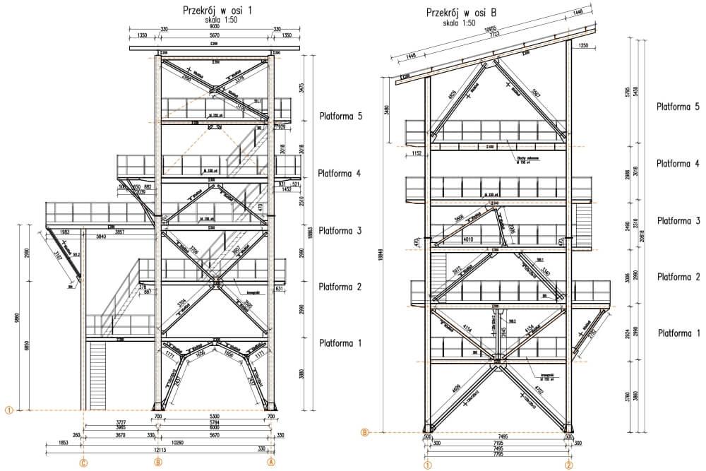 Projekt remontu konstrukcji zakładu eksploatacji kruszyw - rys. 02-03
