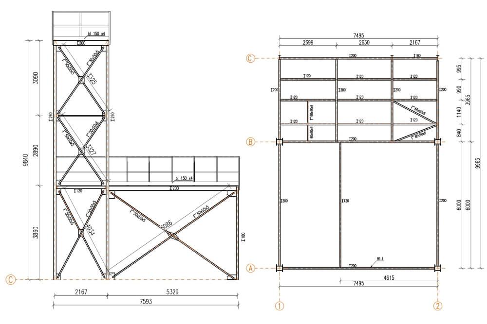 Projekt remontu konstrukcji zakładu eksploatacji kruszyw - rys. 03-03