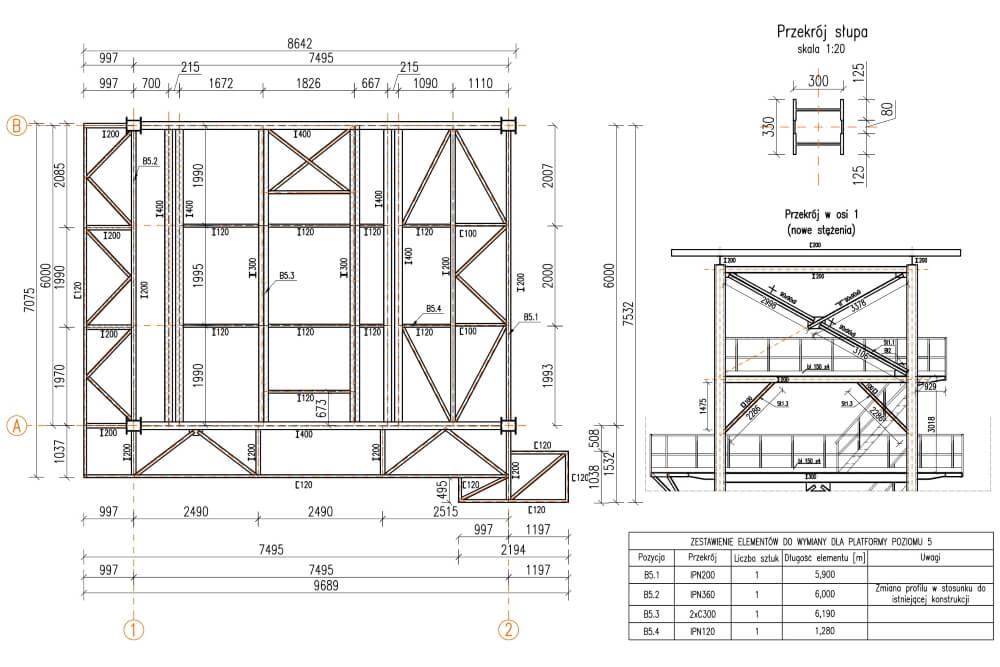 Projekt remontu konstrukcji zakładu eksploatacji kruszyw - rys. 04-03