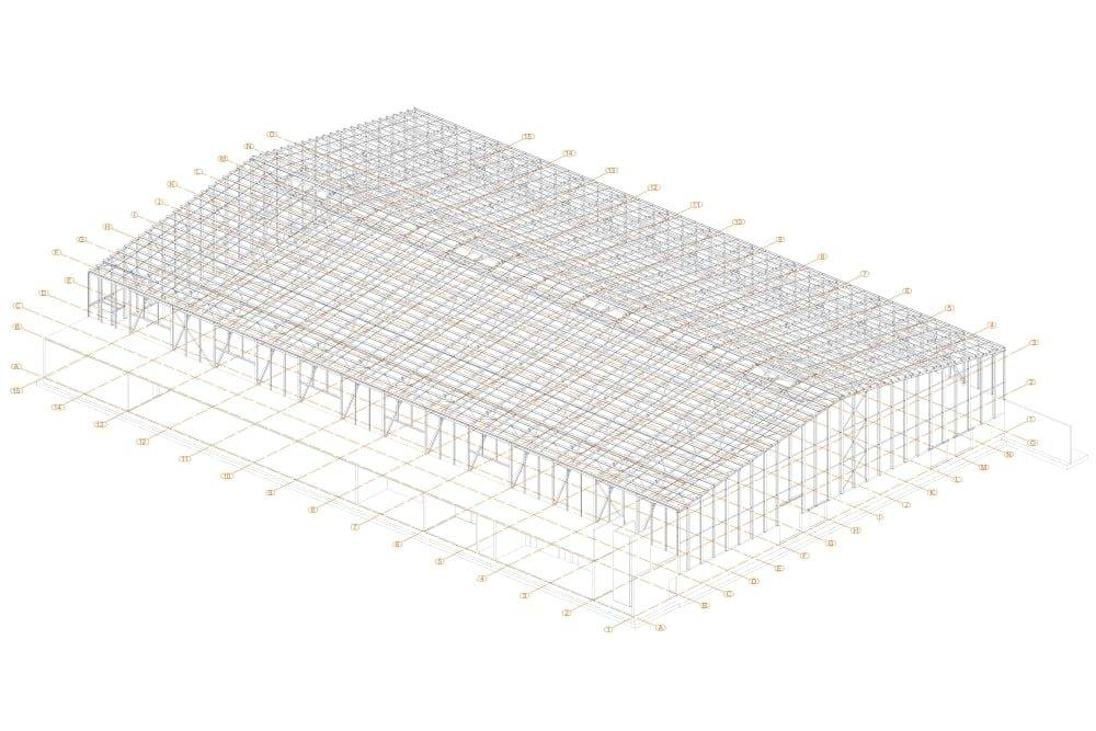 Projekt sali gimnastycznej - rys. 01-03