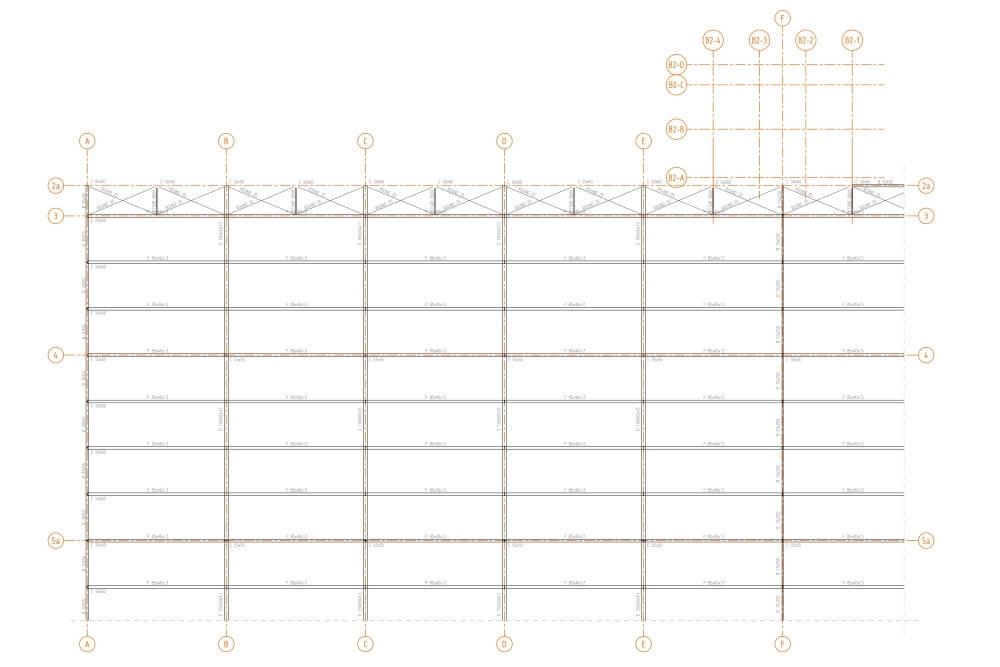 Projekt magazynów wysokiego składowania - rys. 02-03