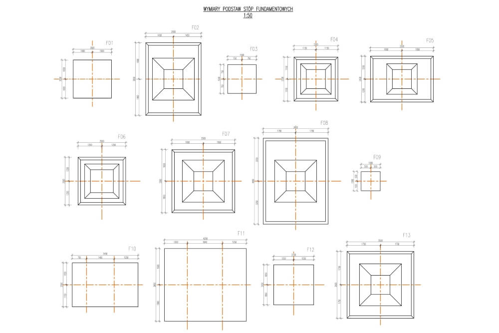 Projekt magazynów wysokiego składowania - rys. 03-03