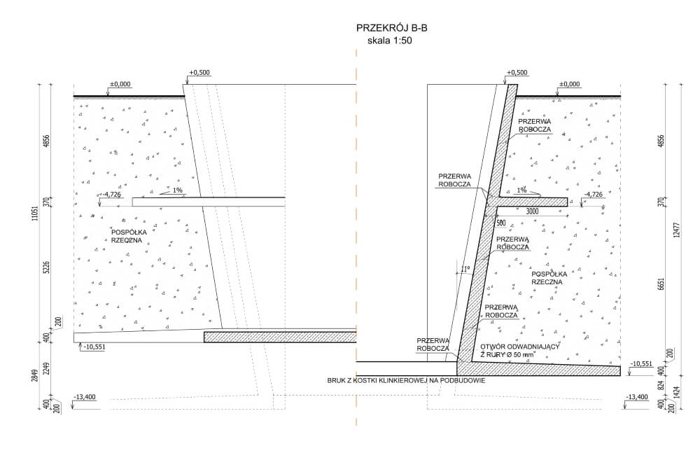 Projekt zbiornika materiału podsadzkowego - rys. 03-03