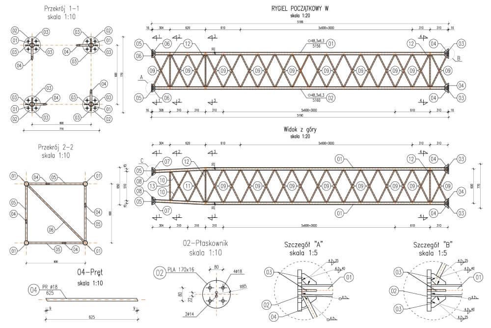 Projekty bramownic systemu viaTOLL - rys. 04-03