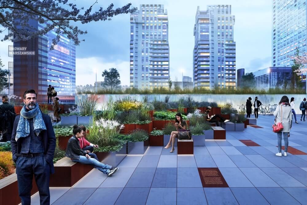 Konstruktionsprojekt der Elemente des Platzes - Vis. 02-03