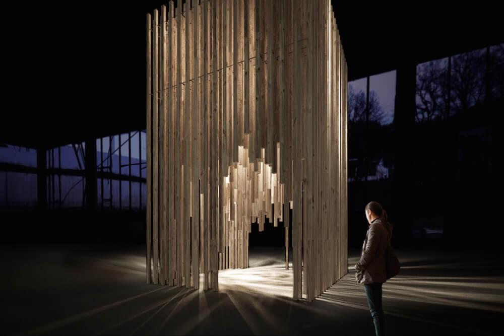 Konstruktionsprojekt der Kunstinstallation - Vis. 01-03