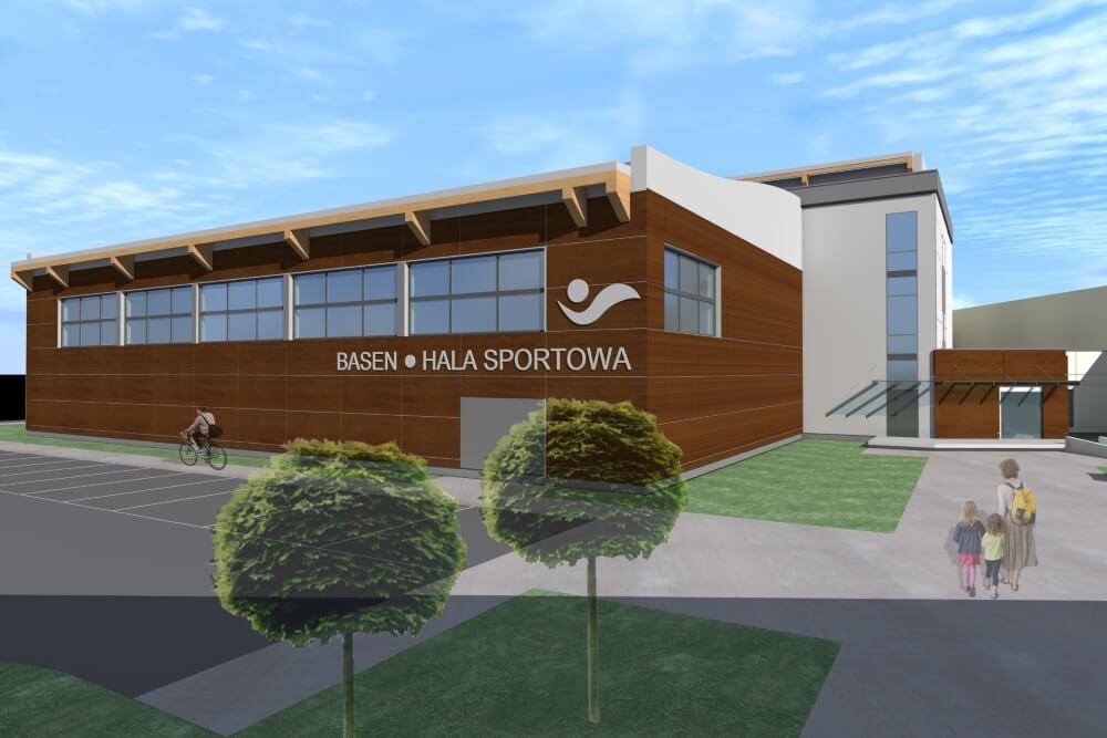 Konstruktionsprojekt der Schwimmbad und Sporthalle - Vis. 01-03