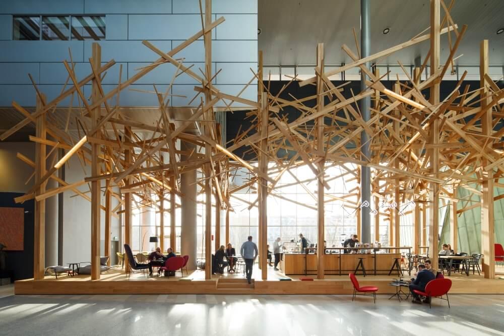Konstruktionsprojekt des Atriums der Bank - Fot. 01-03