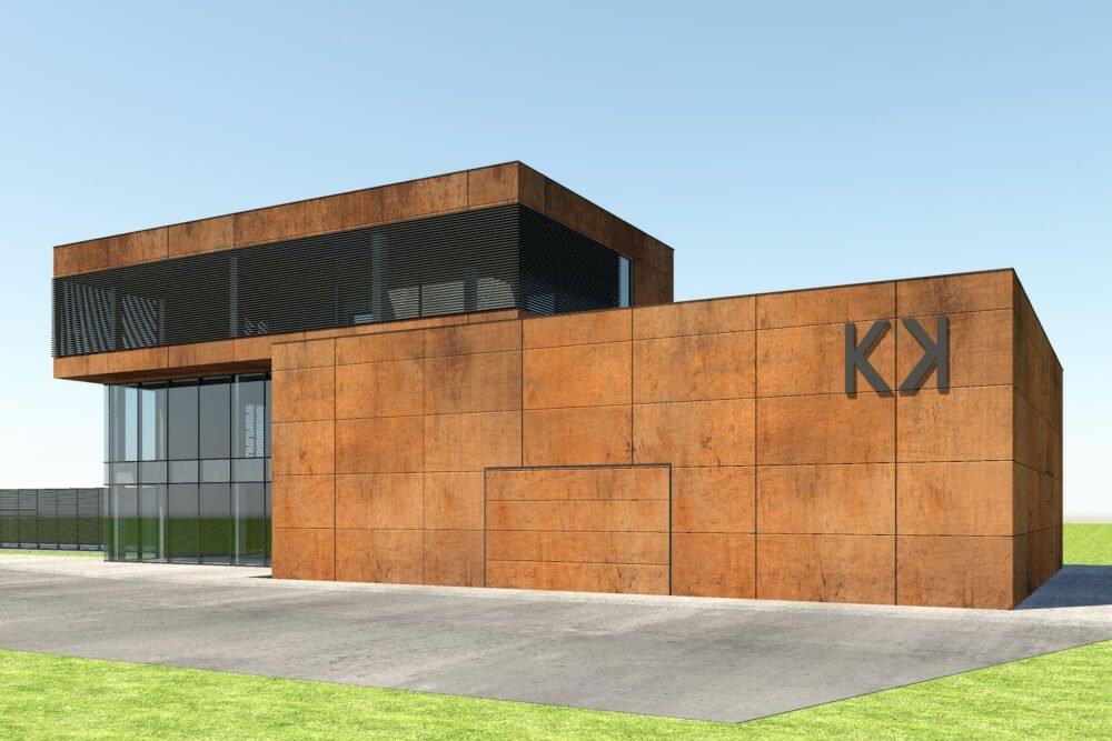 Konstruktionsprojekt des Ausstellungsgebäudes - Vis. 02-03