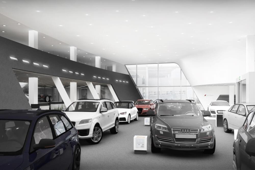 Konstruktionsprojekt des Autohauses - Vis. 04-03