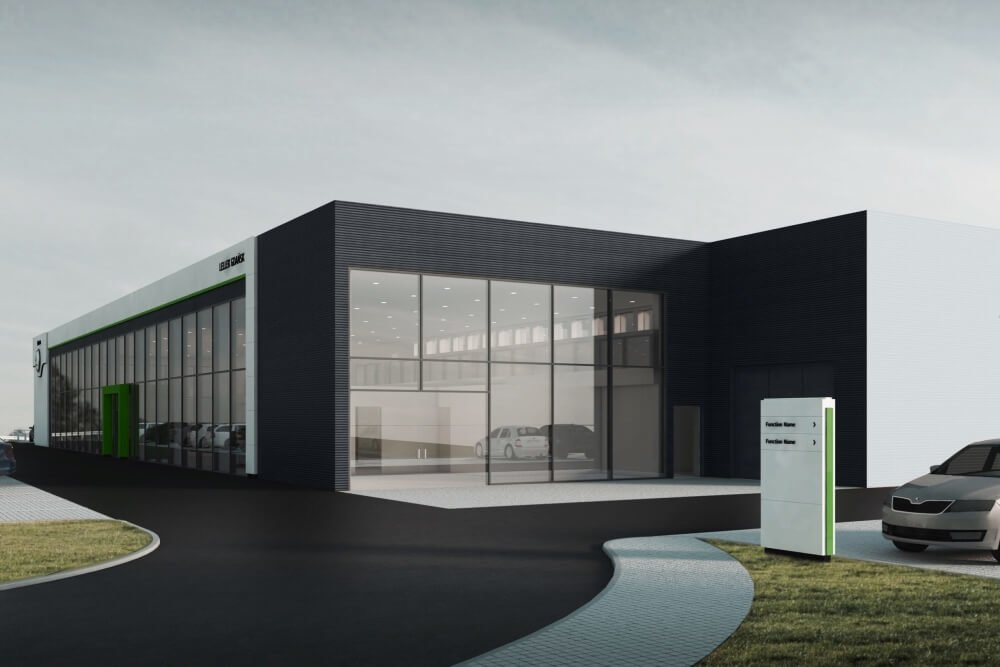 Konstruktionsprojekt des Autohauses - Vis. 03-03