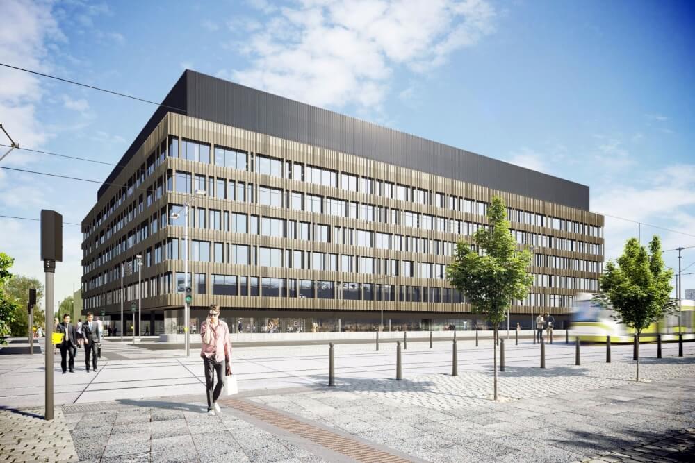 Konstruktionsprojekt des Bürogebäudes - Vis. 09-03