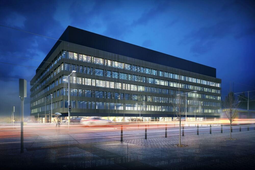 Konstruktionsprojekt des Bürogebäudes - Vis. 11-03
