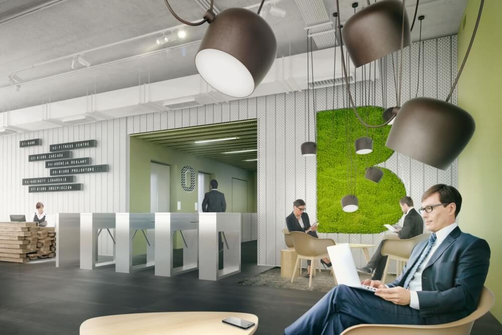 Konstruktionsprojekt des Bürogebäudes - Vis. 13-03