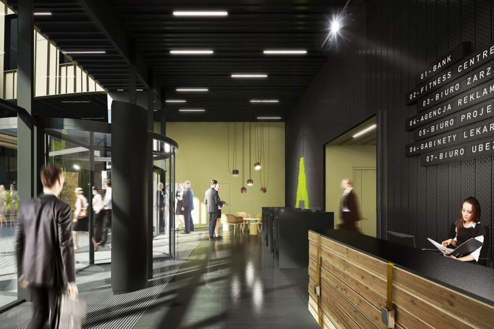 Konstruktionsprojekt des Bürogebäudes - Vis. 14-03