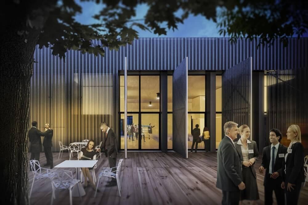 Konstruktionsprojekt des Bürogebäudes - Vis. 12-03