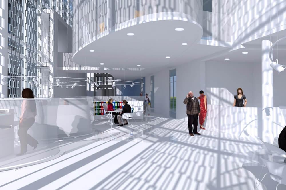 Konstruktionsprojekt des Bürokomplexes - Vis. 03-03