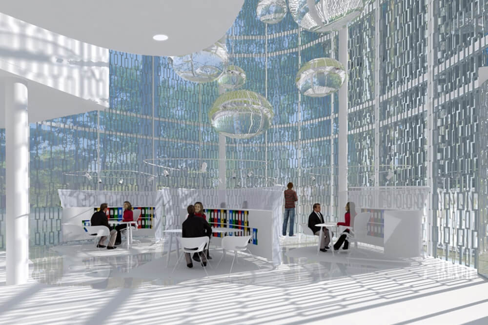 Konstruktionsprojekt des Bürokomplexes - Vis. 04-03