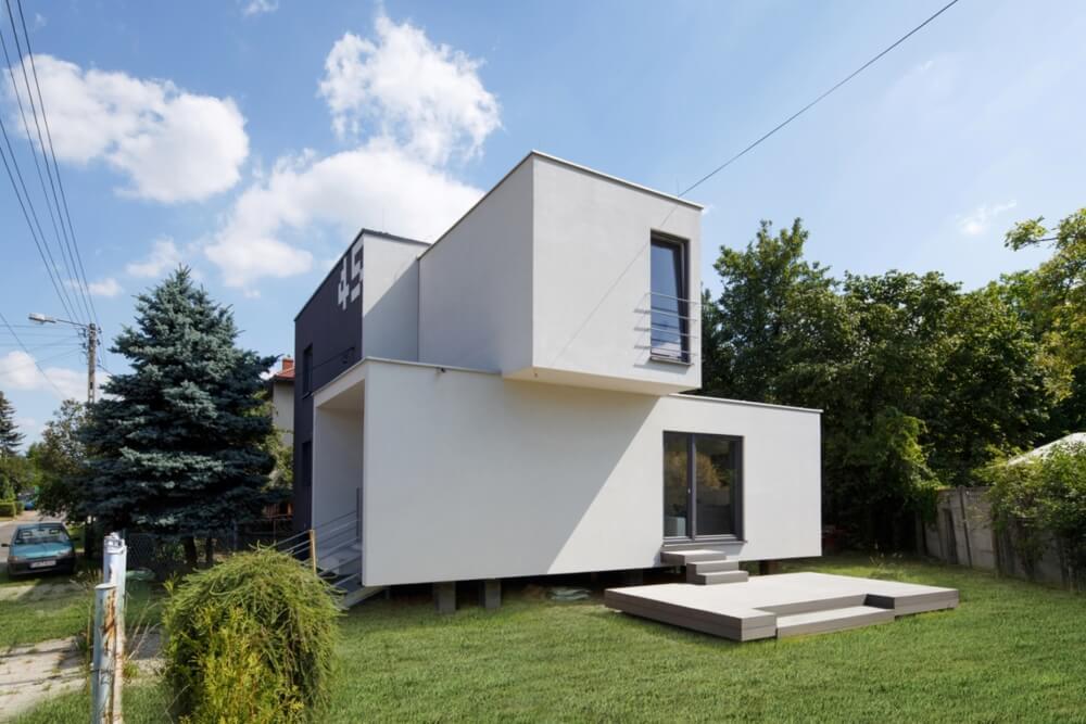 Konstruktionsprojekt des Einfamilienhauses CUBE-2-BOX - Fot. 02-03