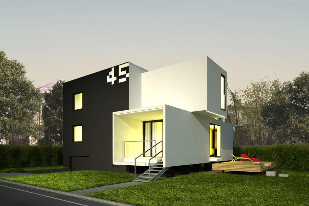 Konstruktionsprojekt des Einfamilienhauses - Vis. 06-03