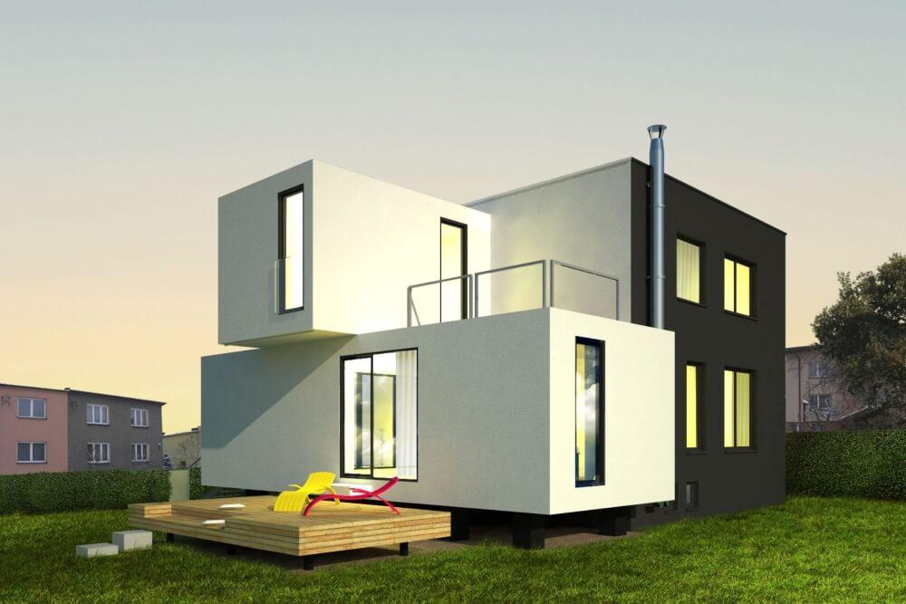 Konstruktionsprojekt des Einfamilienhauses - Vis. 07-03